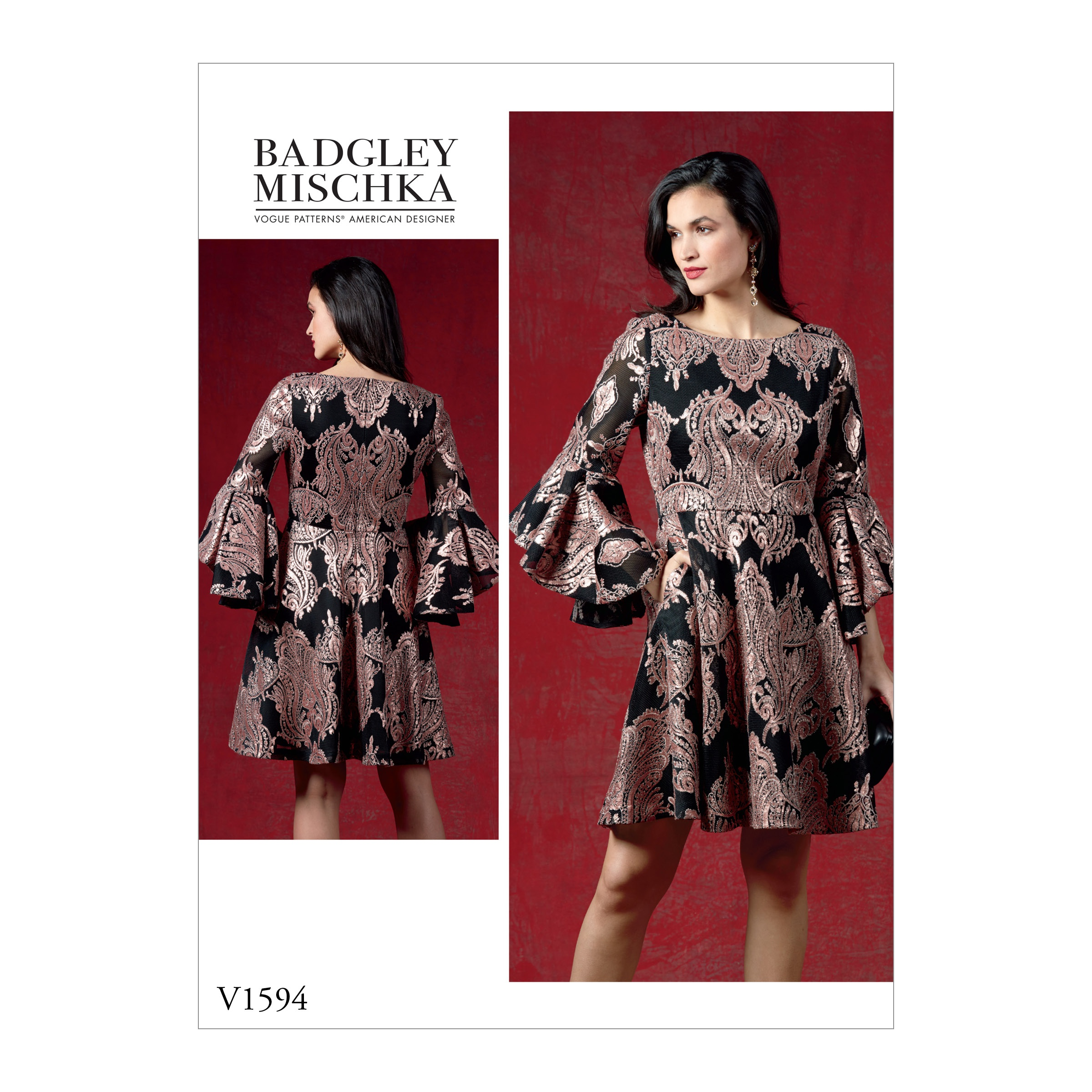 Vogue Patterns Sewing Pattern Misses' Dress-6-8-10-12-14