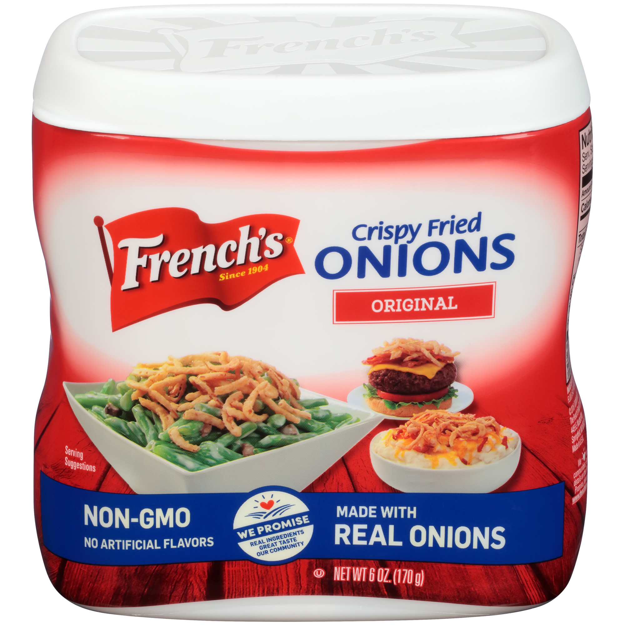 (2 pack) French's Original Crispy Fried Onions (Tasty Onion Flavoring), 6 OZ