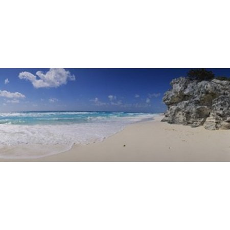 Rock Formation On The Coast Cancun Quintana Roo Mexico Poster Print