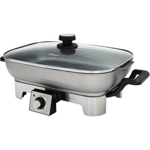 Oster Designed for Life Electric Skillet, Brushed Stainless Steel