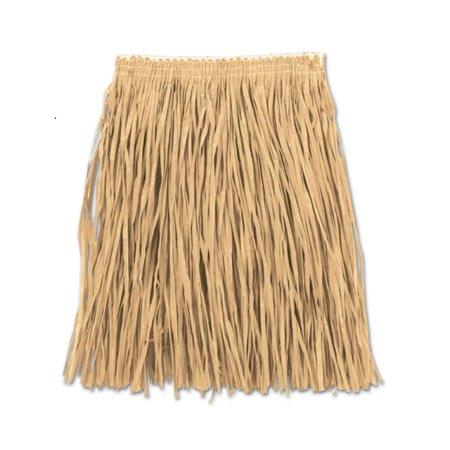 Club Pack of 12 Natural Adult Mini Hula Skirts 16