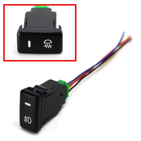 - iJDMTOY (1) Factory Style 4-Pole 12V Push Button Switch w/ LED Background Indicator Lights For Fog Lights, DRL, LED Light Bar, etc (39mm Standard Size)