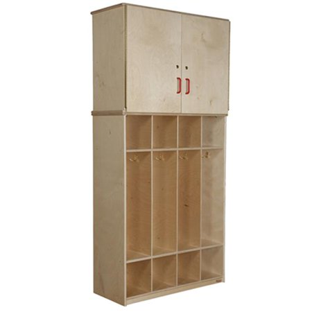 Cabinet Coat (Wood Designs 56800 Coat Locker Vertical Storage)
