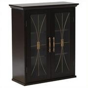 Elegant Home Fashions Delaney 2-Door Wall Cabinet in Dark Espresso