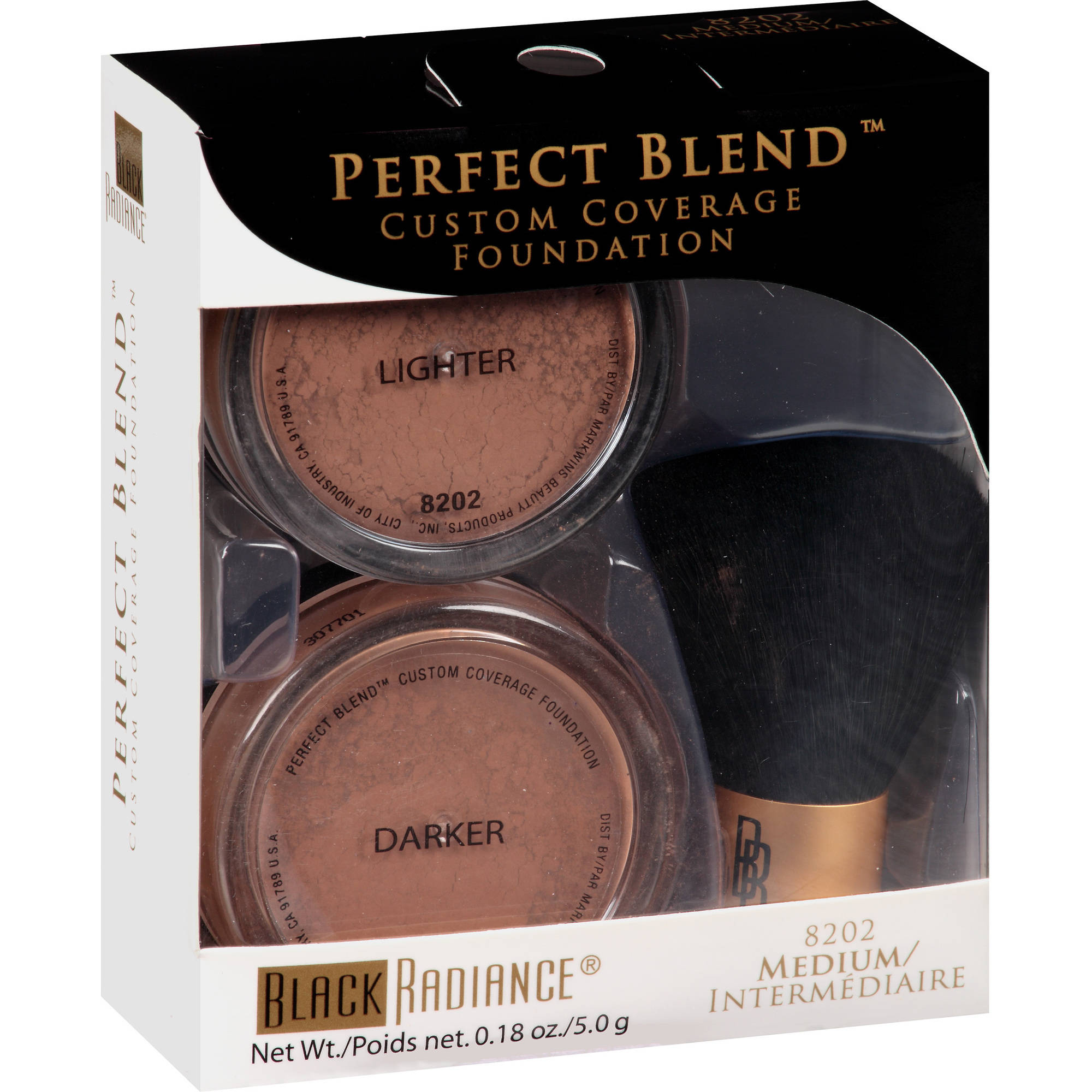 Black Radiance Perfect Blend Mineral Foundation, 8202 Medium, 0.18 oz