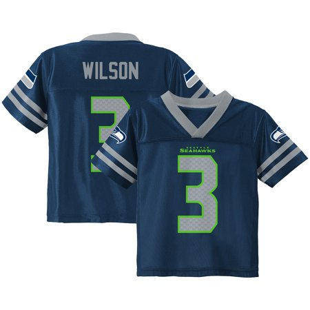 Toddler  Russell Wilson  College Navy Seattle Seahawks Team Color Jersey Wilson V-neck Jersey