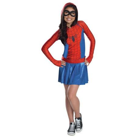 Halloween Hooded Dress Girl's Spider - Girl Costume