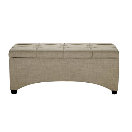 Better Homes and Gardens Pintucked Storage Bench, Multiple Finishes by