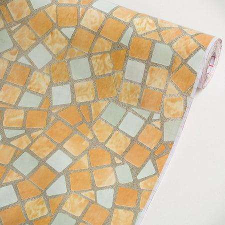 Mosaic Sandybrown - Vinyl Self-Adhesive Wallpaper Prepasted Wall Decor (Swatch)