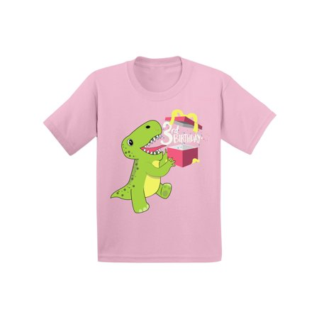 Awkward Styles Dinosaur Birthday Toddler Shirt Gifts For 3 Year Old Boy 3rd Girl Outfit Themed