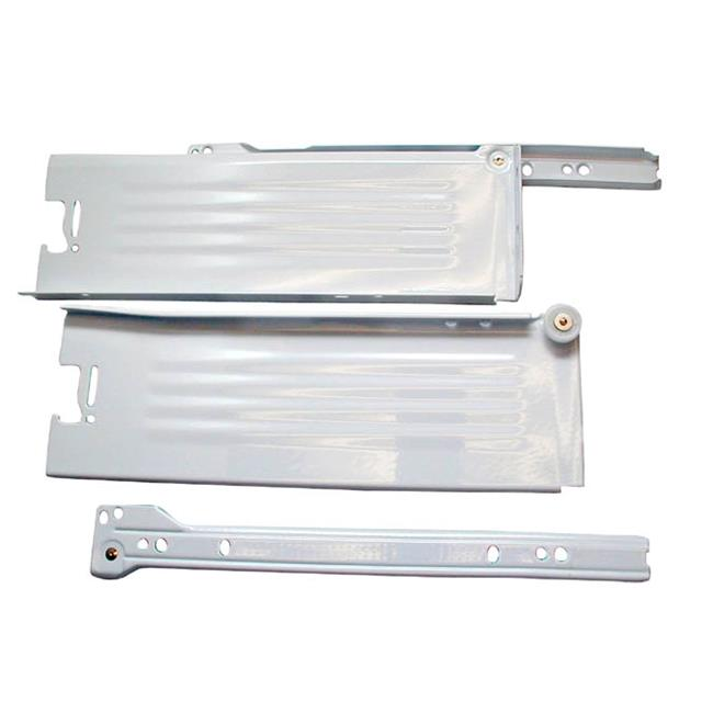 B320M 4000C15W Blum Metabox C-15 0.75 Extension Sides Medium 16 in. Set, White