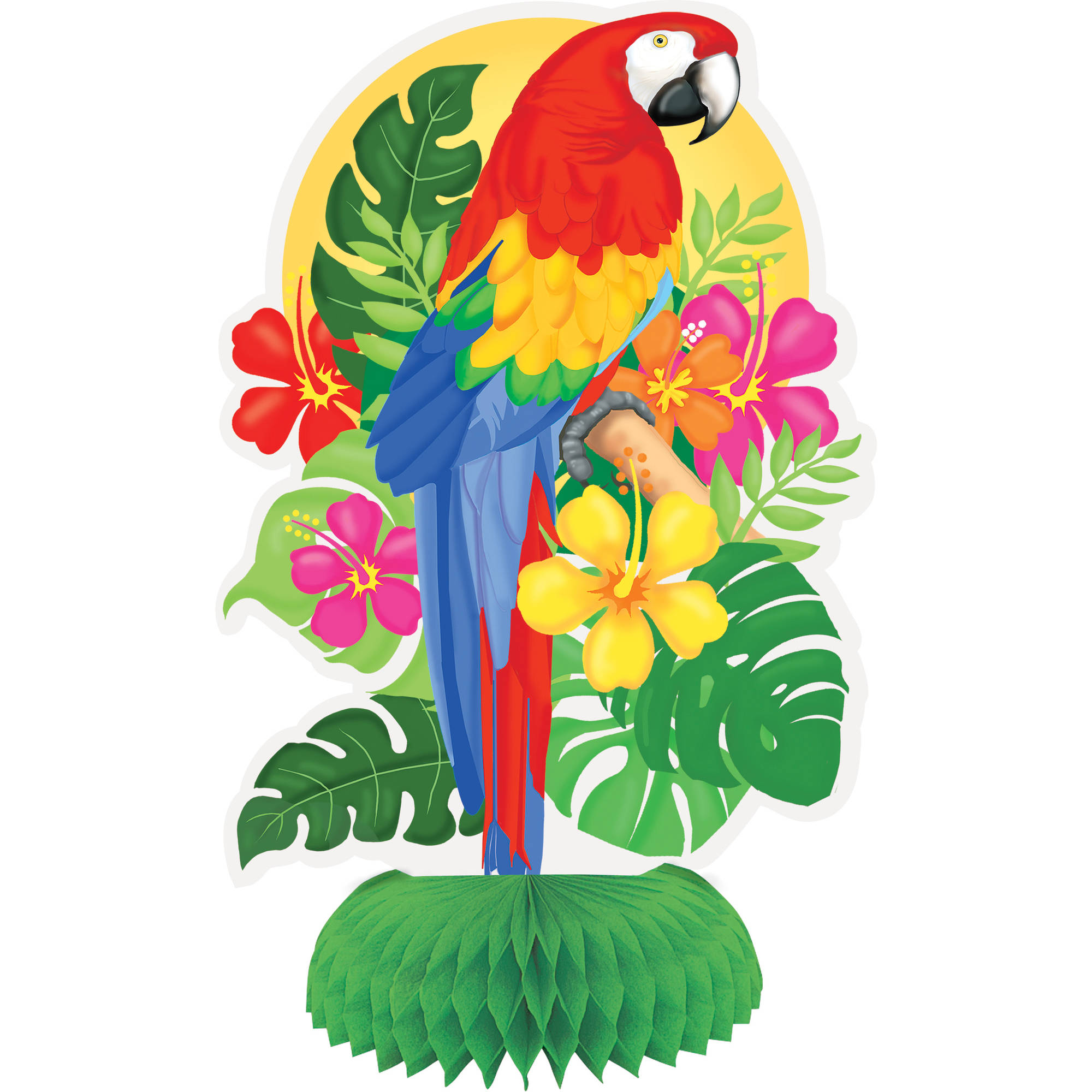 "8"" Mini Tropical Island Luau Centerpiece Decorations, 3ct"