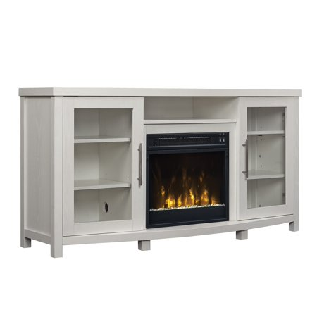 Sea Meadow White Tv Stand For Tvs Up To 60 With Electric Fireplace