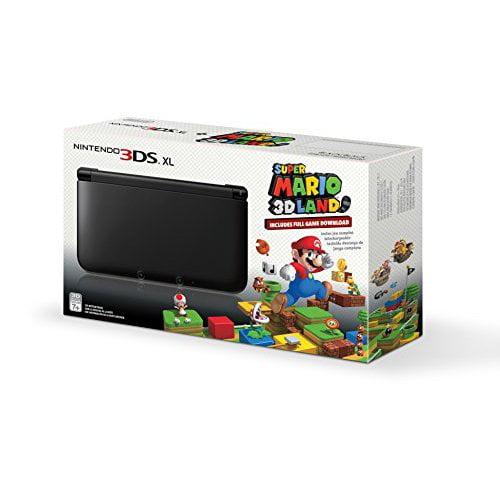Refurbished Black Nintendo 3DS XL With Super Mario 3D Land Game