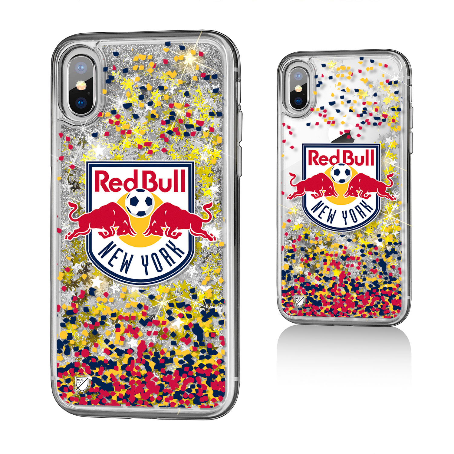 New York Red Bulls RED BULLS Confetti Glitter Case for iPhone X