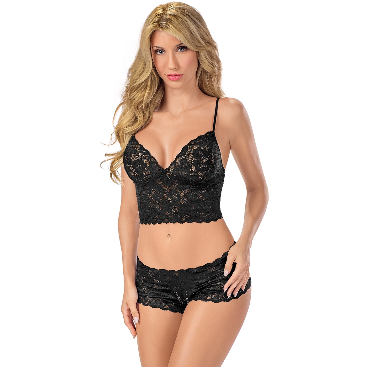 Sexy Lace Cami and Boyshort Set