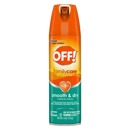 Biodegradable Insect Repellent - OFF! FamilyCare Insect Repellent I, Smooth & Dry, 4 oz, 1 ct