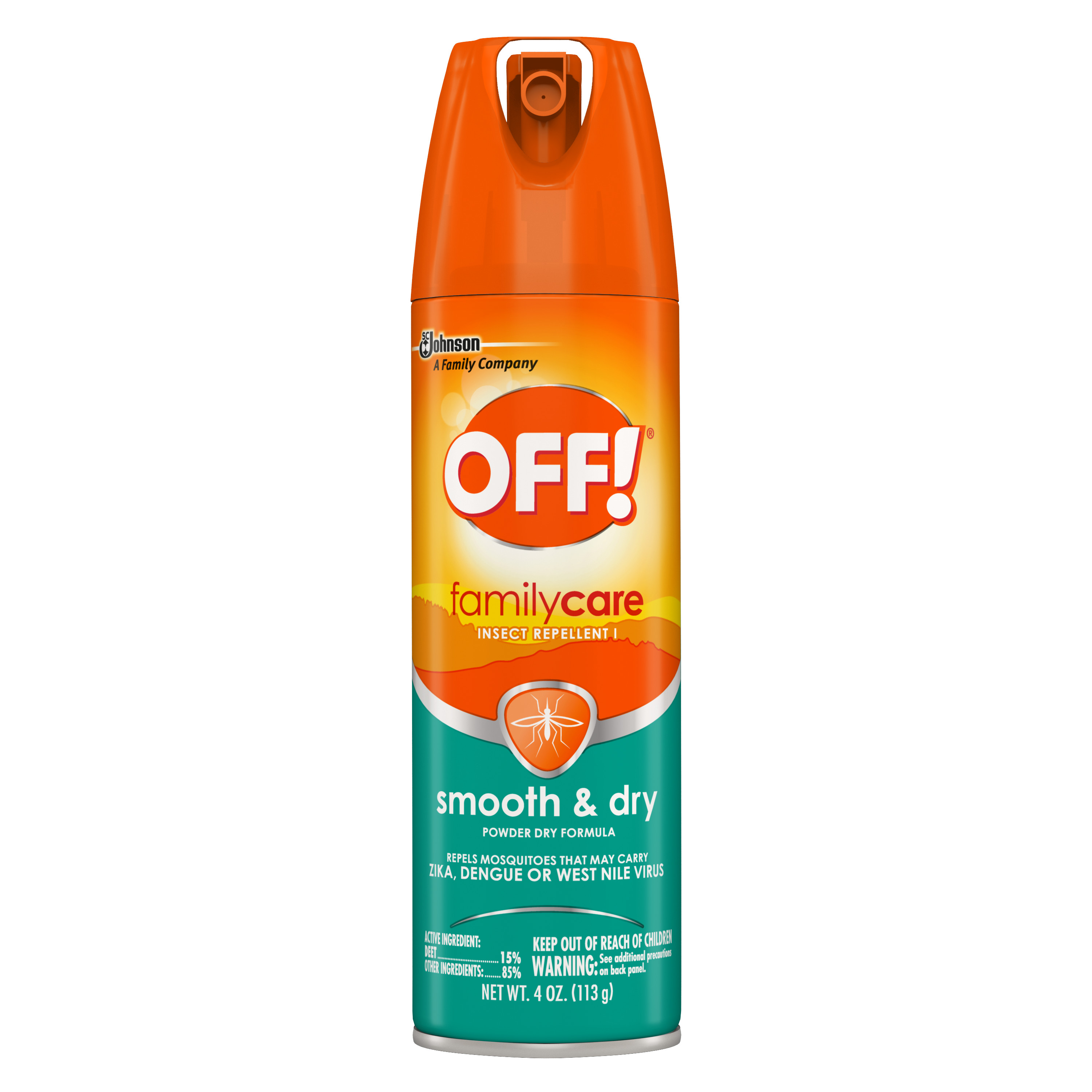 OFF! FamilyCare Insect Repellent I, Smooth & Dry, 4 oz, 1 ct