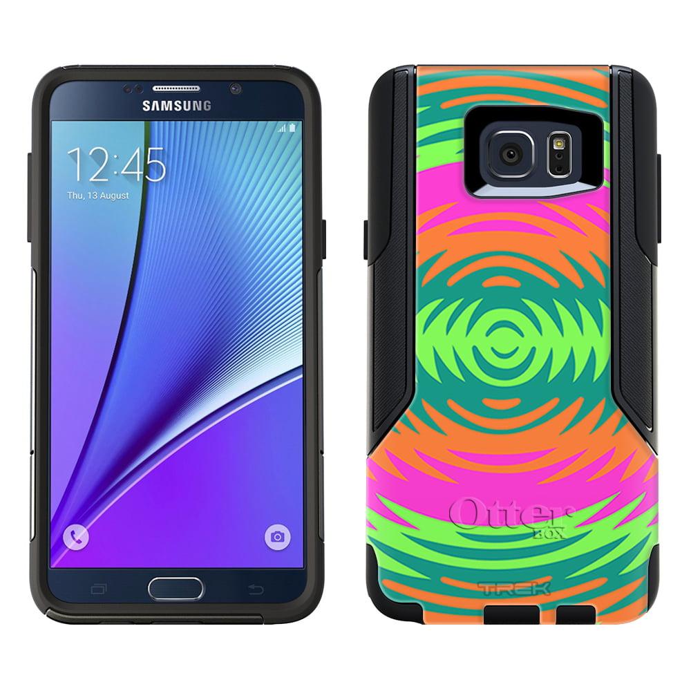 OtterBox Commuter Samsung Galaxy Note 5 Case - Orange Green Pink Cicular Pattern OtterBox Case