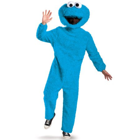 Full Plush Cookie Monster Prestige Adult Costume - Cookie Monster Tween Costume