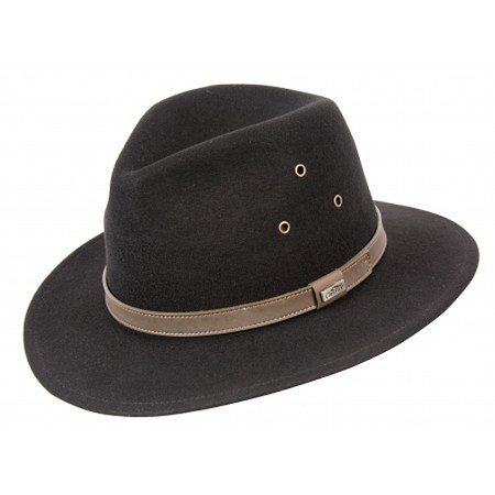 4934f1d61f0 Conner Hats - Conner Hats Men s Breckenridge Wool Safari Hat Black ...