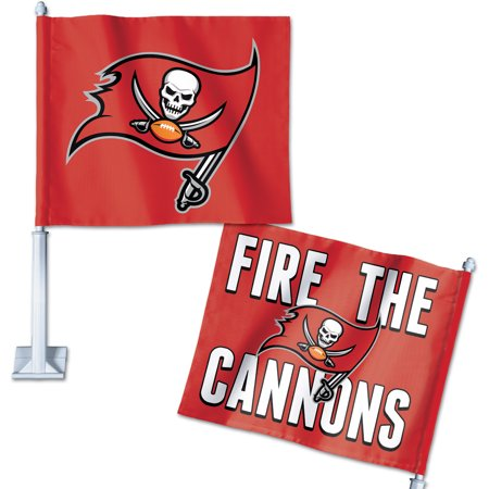 - Tampa Bay Buccaneers WinCraft Double-Sided Slogan Car Flag - No Size