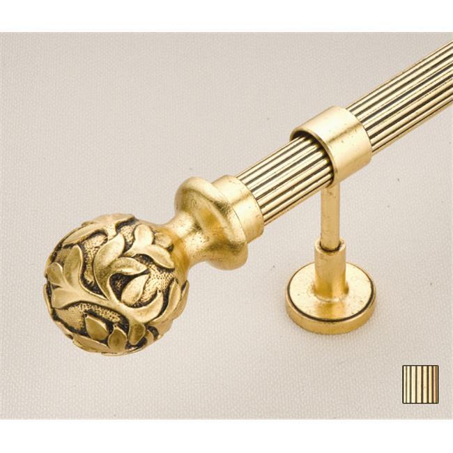 WinarT USA 8. 1074. 45. 06. 120 Palas 1074 Curtain Rod Set - 1. 75 inch - Gold Leaf - 48 inch