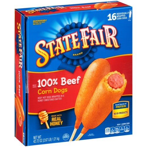 State Fair 100% Beef Corn Dogs, 16 count, 42.72 oz
