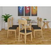 Scandinavian Lifestyle  Cosmo Glass/ Wood Side Table