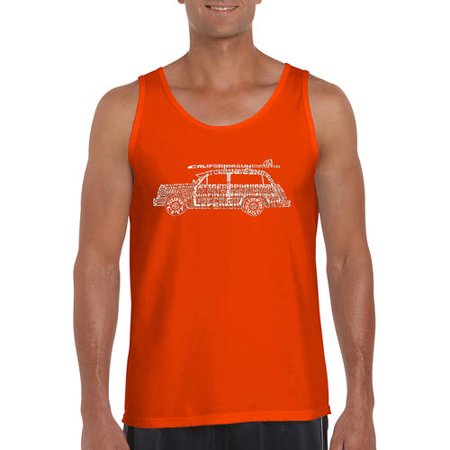 b822890de7ca7e Los angeles pop art Big Men s tank top - woody - classic surf songs ...
