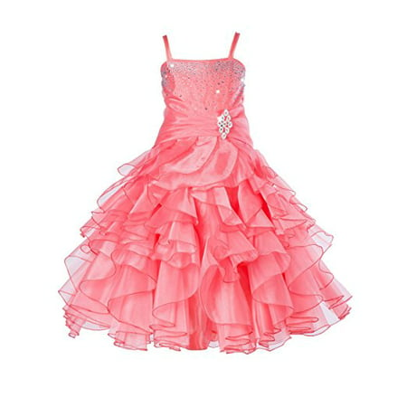 Ekidsbridal Rhinestone Organza Layers Flower Girl Dress Princess Dresses Special Occasion Dresses Pageant Dresses Ballroom Gown Toddler Girl Dresses Easter Summer Dresses Birthday Girl Dress 164S