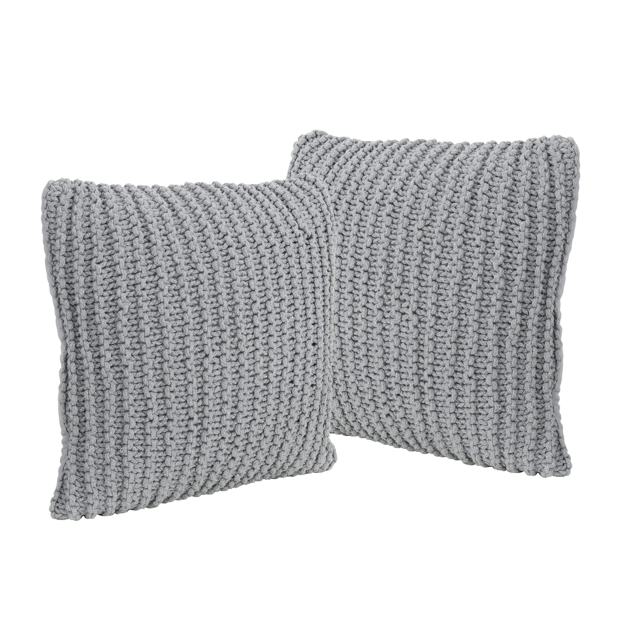 Christopher Knight Home Farlie Knitted Cotton Pillows Set Of 2 By Chirstopher Knight Home Walmart Com Walmart Com