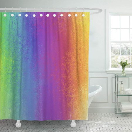 KSADK Colorful Abstract Color Blur with Rainbow Fun Cheerful Kids Bright Back Shower Curtain Bathroom Curtain 66x72 inch