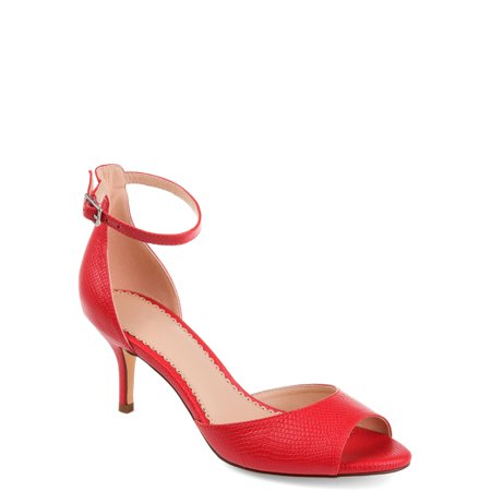 Womens Open-toe Ankle Strap Pump