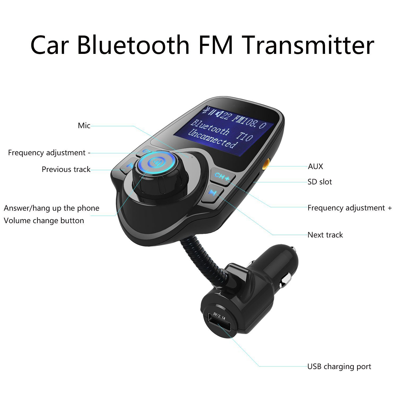 EEEKit Bluetooth Car Kit MP3 Player FM Transmitter Wireless Adapter USB  Charger