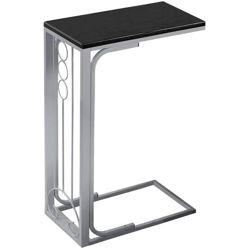 Monarch Accent Table Cappuccino Top   Champagne Metal by Monarch Specialties