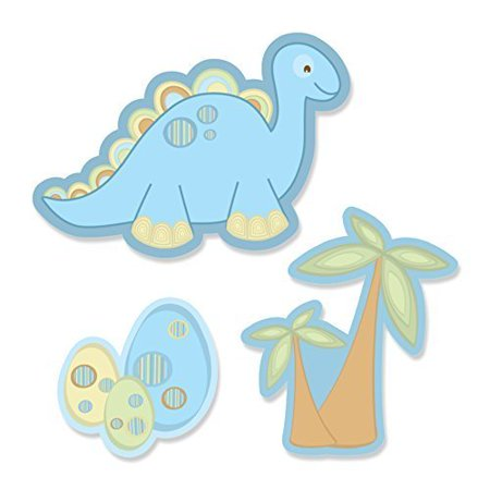Baby Boy Dinosaur - DIY Shaped Party Small Cut-Outs - 24 Count](Diy Dinosaur Tail)