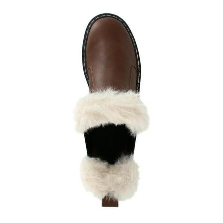 PORTLAND by Portland Boot Company Fur Trim Chelsea Boot (Women's)