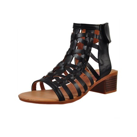 Olivia Miller Girls' Gladiator Sandals (Sizes 11 - 5) (Child Of God Cormac)