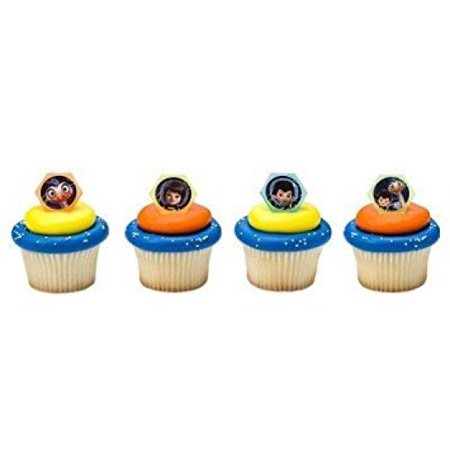 ON SALE 12 Miles Ready For Adventure Cupcake Cake Rings Birthday Party Favors Toppers