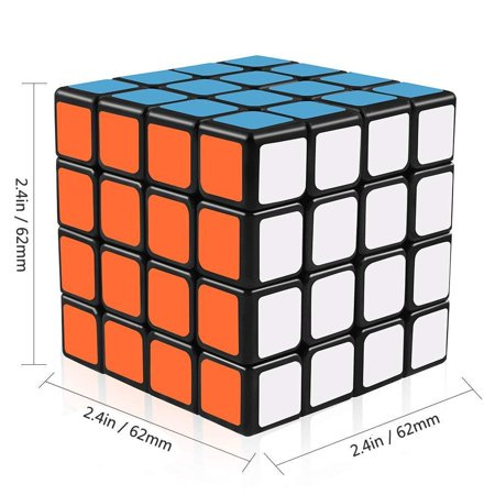 Reactionnx Speed Rubik Cube, Black Base Magic Rubik 6 Color Puzzles Educational Special Toys Brain Teaser Gift Box, 4x4 Stickerless Develop Brain Logic Thinking Ability Best Gift