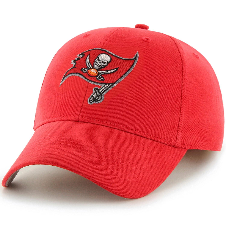 Men's Fan Favorite Red Tampa Bay Buccaneers Mass Basic Adjustable Hat - OSFA