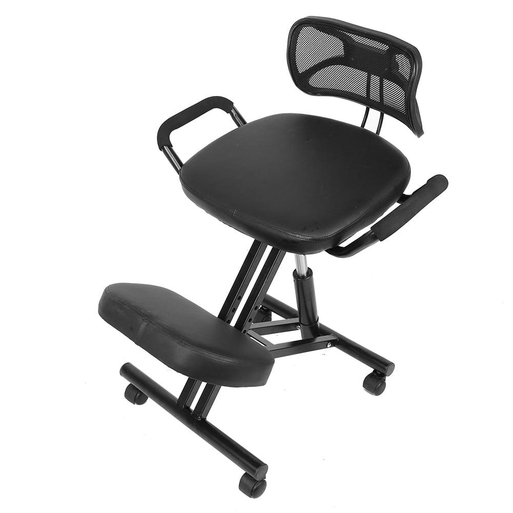 Brrnoo Office Kneeling Chair Ergonomic Kneeling Chair Adjustable Posture Correction Knee Stool With Back Support Posture Chair Walmart Com Walmart Com