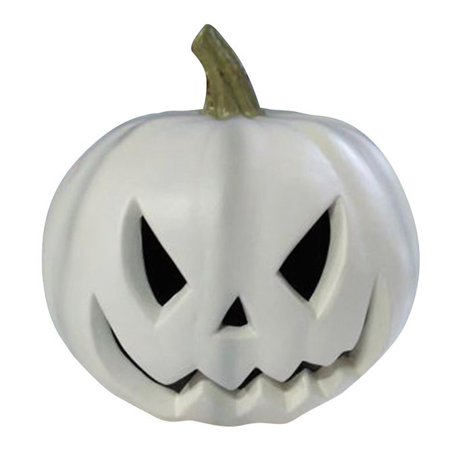Gemmy 220405 Halloween Blow Mold Lighted Pumpkin, White - Halloween Pumkin