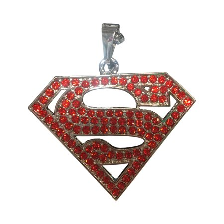 Adult's Womens DC Comics Superman Supergirl Necklace Costume Accessory