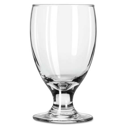 Libbey Embassy Footed Drink Glasses, Banquet Goblet, 10.5oz, 5 1/4