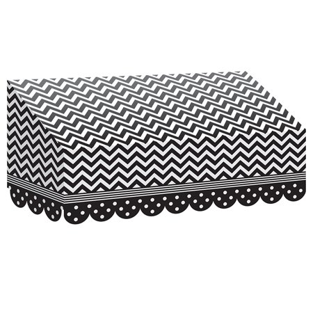 Black & White Chevrons And Dots - image 1 of 1