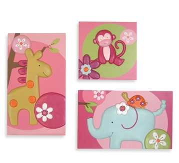 Lambs & Ivy Lollipop Jungle Wall Decor