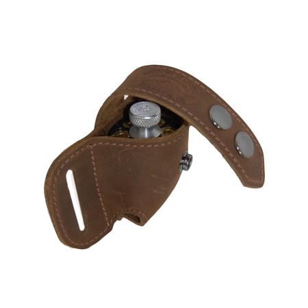 Barsony Brown Leather Revolver Speed Loader Pouch for 6 shot .44 (Best 44 Magnum Revolver For The Money)
