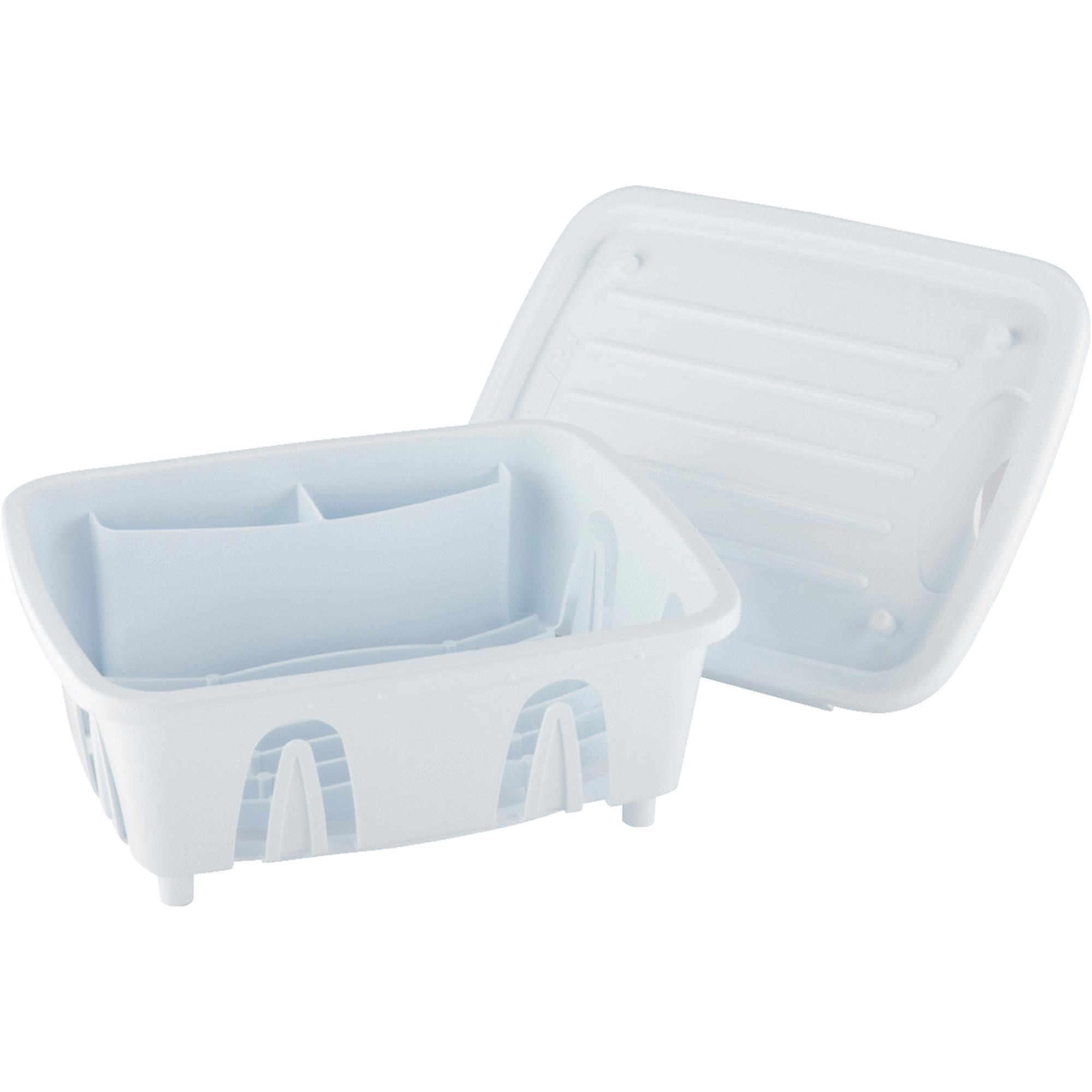 Camco Durable Mini Dish Drainer Rack Tray Perfect RV Sinks, Marine Sinks Compact Kitchen Sinks- White (43511)